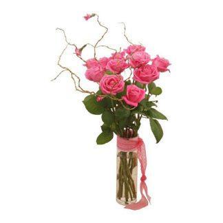 buket u vazi - pink ruže