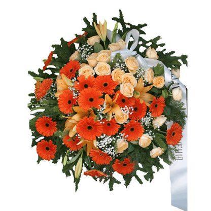 venac za sahrane - narandžasti