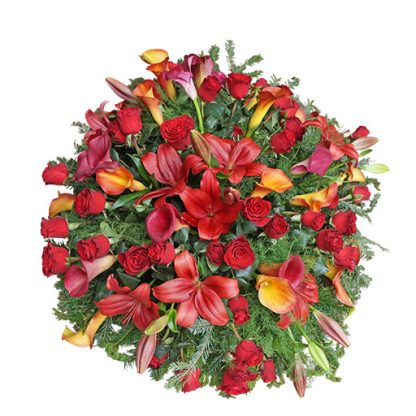 Venac od crvenog cveća