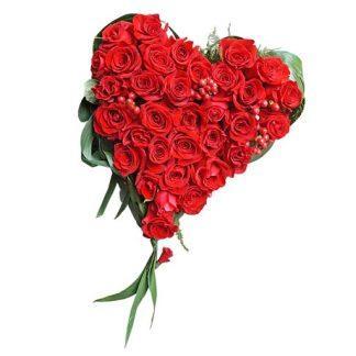 Srce od crvenih ruža